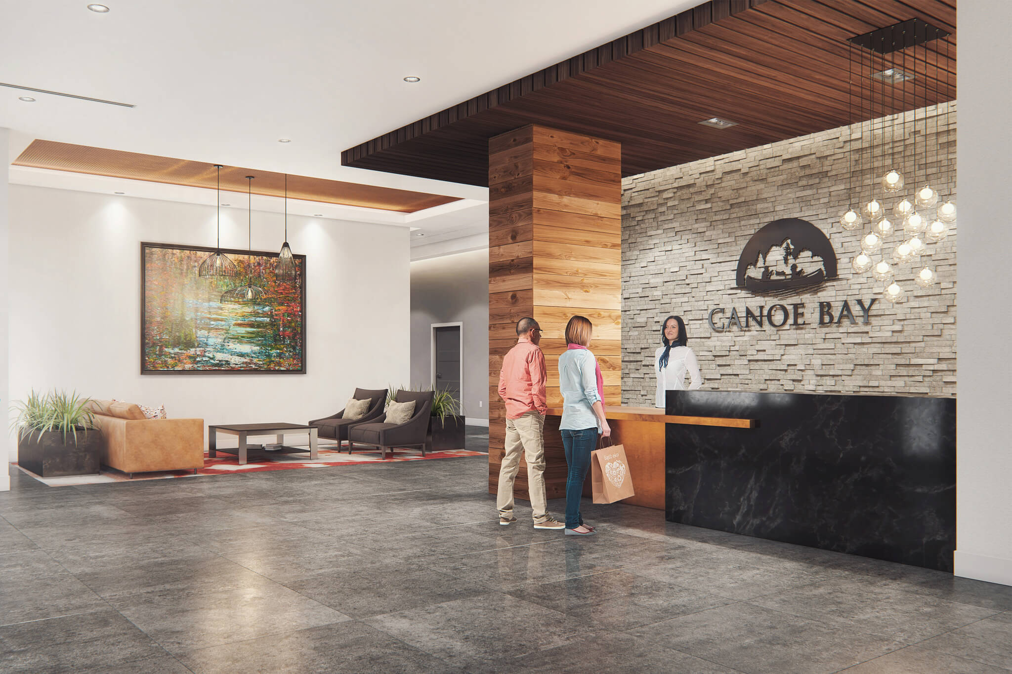Canoe Bay Seniors Apartment Lobby